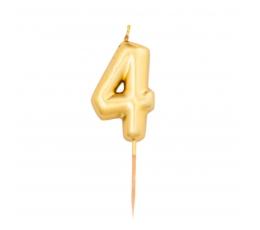 """Küünal """"4"""", kuldne (8 cm)"""