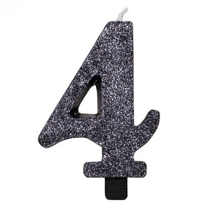 """Küünal """"4"""", must läikiv"""