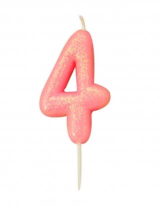 "Küünal ""4"", roosa läikiv"