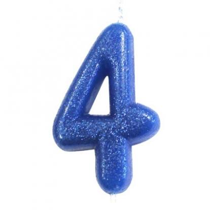 """Küünal """"4"""", sinine läikiv"""