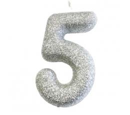 """Küünal """"5"""", hõbedane"""