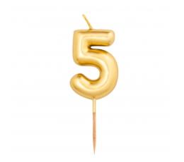 """Küünal """"5"""", kuldne (8 cm)"""