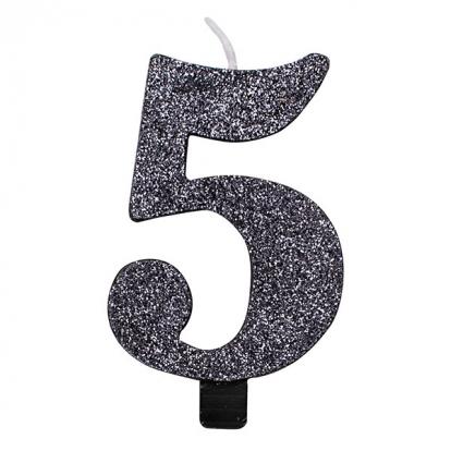 """Küünal """"5"""", must läikiv"""