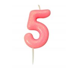 "Küünal ""5"", roosa läikiv"