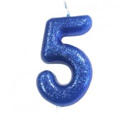 """Küünal """"5"""", sinine läikiv"""