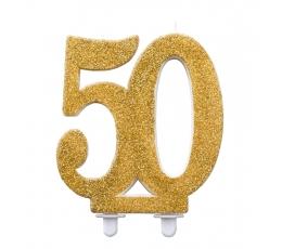 """Küünal """"50"""", kuldne (12 cm)"""