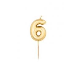 """Küünal """"6"""", kuldne (8 cm)"""