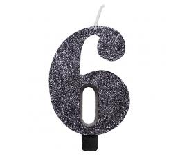 """Küünal """"6"""", must läikiv"""