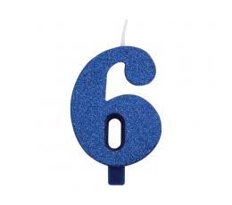 "Küünal ""6"", sinine (9,5 cm)"