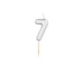 """Küünal """"7"""", hõbedane (8 cm)"""