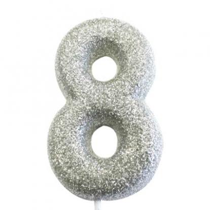 """Küünal """"8"""", hõbedane"""