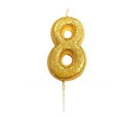 """Küünal """"8"""", kuldne"""