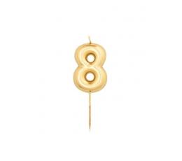 """Küünal """"8"""", kuldne (8 cm)"""