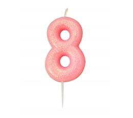 "Küünal ""8"", roosa läikiv"