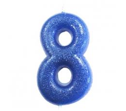 """Küünal """"8"""", sinine läikiv"""