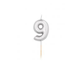"""Küünal """"9"""", hõbedane (8 cm)"""