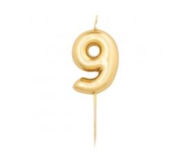 """Küünal """"9"""", kuldne (8 cm)"""