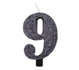 """Küünal """"9"""", must läikiv"""