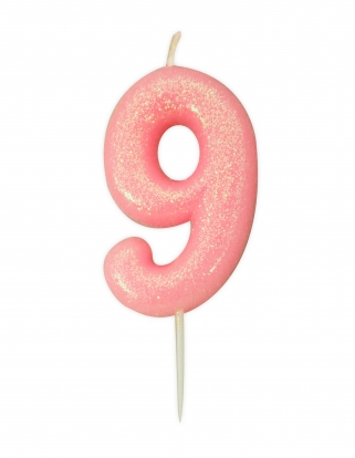 "Küünal ""9"", roosa läikiv"