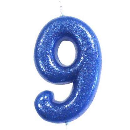 """Küünal """"9"""", sinine läikiv"""