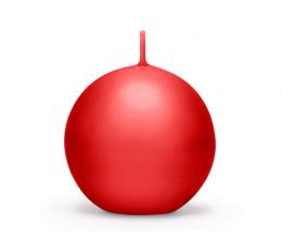 Küünal, ümmargune punane matt (8 cm)