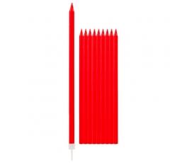 Küünlad, punased pikad (10 tk / 15 cm)
