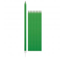Küünlad, rohelised pikad (10 tk / 15 cm