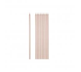 Küünlad, roosakas-kuldsed (10 tk / 15 cm)