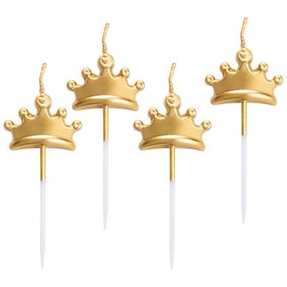 """Küünlad-suupistetikud """"Kuldne kroon"""" (5 tk)"""
