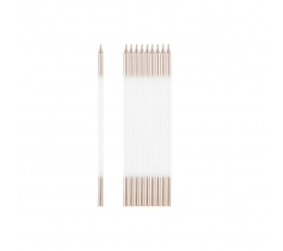 Küünlad, valge-roosa kuldsed (10 tk / 15 cm)