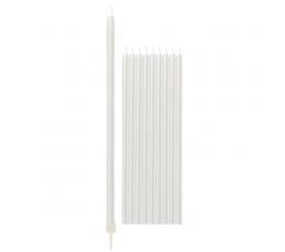 Küünlad, valged pärlmutter, pikad (10 tk / 15 cm)