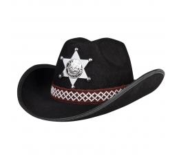 Laste šerifi kaabu, must