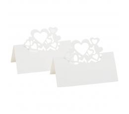 """Laua - nimekaardid """"Südamed"""", pärlmutter (10 tk)"""