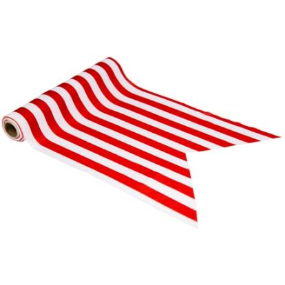 Lauajooks punase-valge triibuline (28 cm x 5 m)