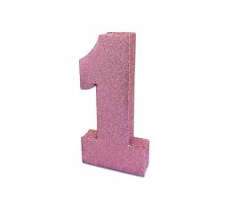 """Lauakaunistus """"1"""", roosa läikiv"""