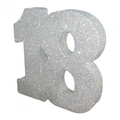 """Lauakaunistus, hõbedane """"18"""" (20 cm)"""