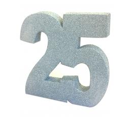 """Lauakaunistus, hõbedane """"25"""" (20 cm)"""