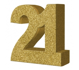 """Lauakaunistus, kuldne """"21"""" (20 cm)"""