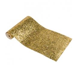 Laudlina/dekoratsioon, läikiv kuldne (15 cm x 1,4 m)