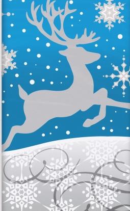 "Laudlina ""Hõbedased lumehelbed"" (137x259 cm)"