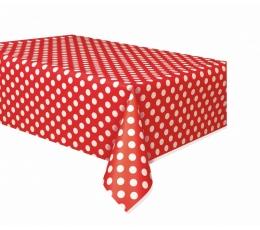 Laudlina, punane täppidega (137x274 cm)