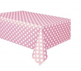 Laudlina, roosa täppidega (137x274 cm)