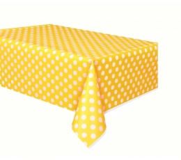 Laudlina, täpiline kollane (137x274 cm)
