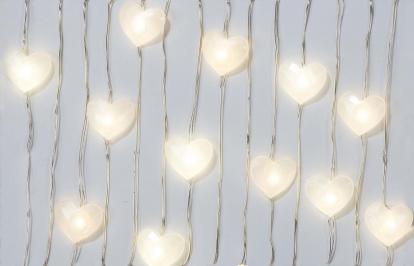 """LED-vanik lauale """"Pärlmutter südamed"""" (3 m)"""