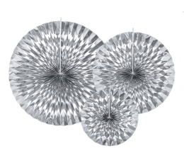 Lehvikud, hõbedased läikivad (3 tk)
