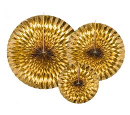 Lehvikud, kuldsed läikivad (3 tk)
