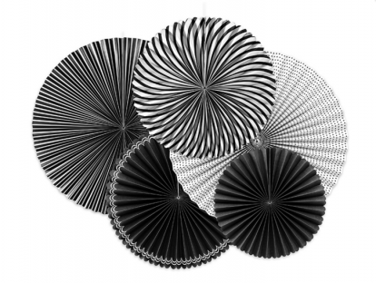 Lehvikukomplekt, must-valge (5 tk)