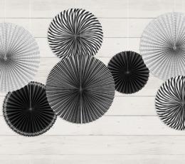 Lehvikukomplekt, must-valge (5 tk) 1