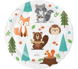 """Lėkštutės """"Miško žvėreliai"""" (8 vnt./17 cm)"""