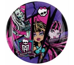 "Lėkštutės ""Monster High-2"" (8 vnt./18 cm)"